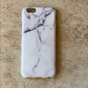 iPhone 6s white marble case